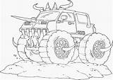 Monster Coloring Truck Drawing sketch template