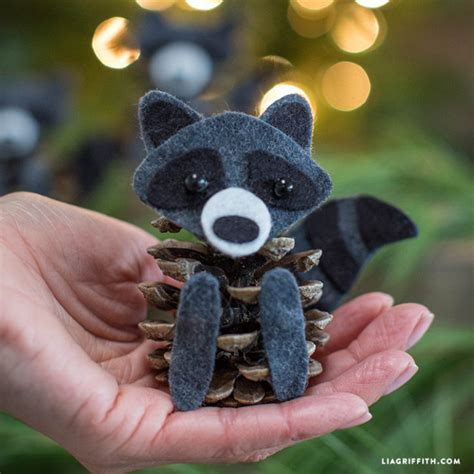 The Chew Templates Pine Cones Animals by Felt Pinecone Raccoons Lia Griffith