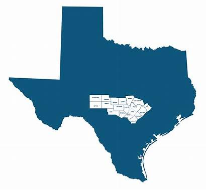 Central Texas Regional Map Region Counties Coordinator