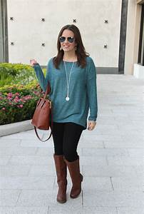 Light Brown Riding Boots Teal Sweater Brown Riding Boots Lady In Violetlady In