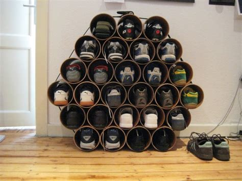 remote bag organizer rak remote diy pvc pipe shoe rack