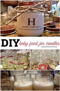 DIY Baby Food Jar Candles