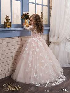 butterfly flower girls dresses 2017 pentelei with long With little girl dresses for weddings