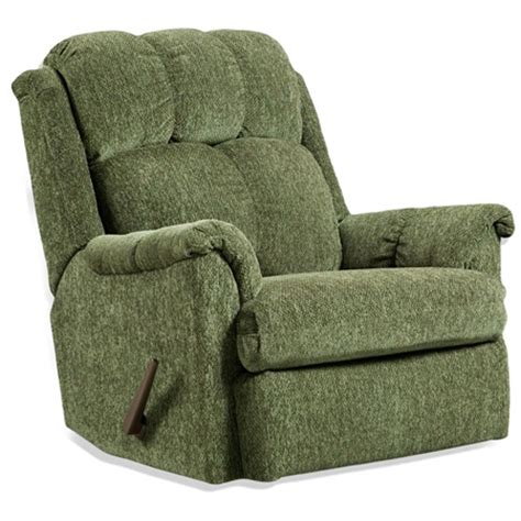 tufted rocker recliner chair tahoe green fabric dcg stores