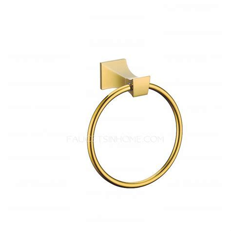 Modern Polished Brass Towel Rings