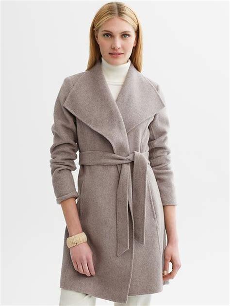Banana Republic Draped Wool Coat - banana republic belted wool wrap coat brannak clothes