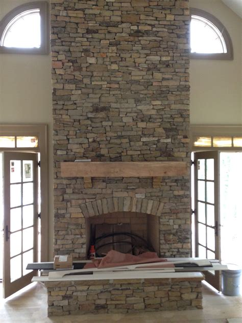 Stacked Stone Fireplace  Aifaresidencycom