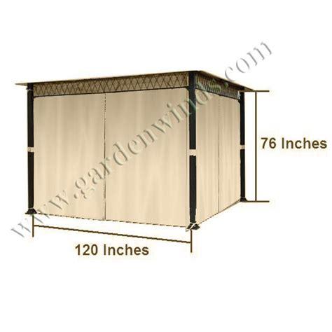 universal privacy curtain set for gazebos canada garden