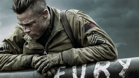 full hd wallpaper fury soldier brad pitt jacket bristle