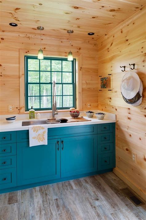 woodmeister master builders blue kitchen decor rustic