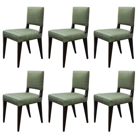 upholstered dining chairs set of 6 set of six custom dining chairs upholstered in horsehair