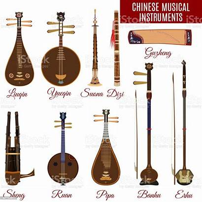 Instruments Chinese Musical Vector Traditional Suona String
