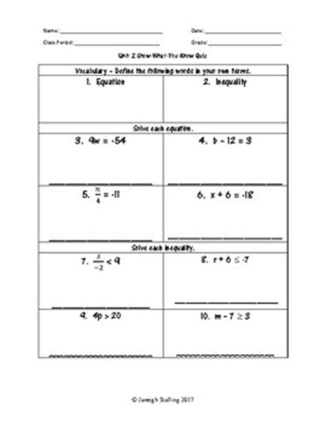 unit   variable equations  inequalities