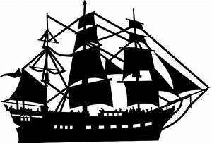 Pirate Ship Outline - Cliparts.co