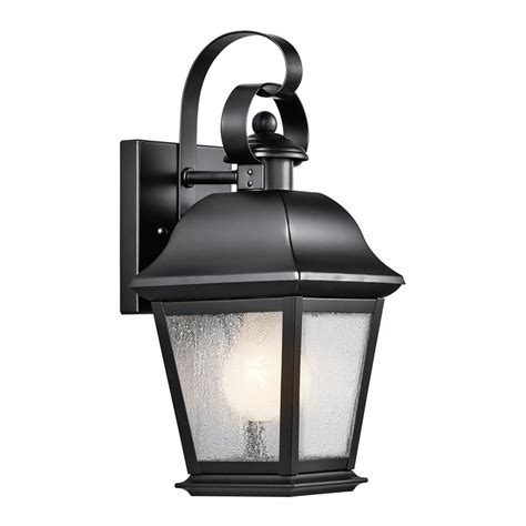 shop kichler mount vernon 12 5 in h black outdoor wall