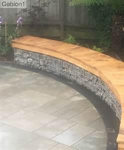 Seat Muret : curved gabion garden seating with timber tops http www gabion ideas ~ Gottalentnigeria.com Avis de Voitures