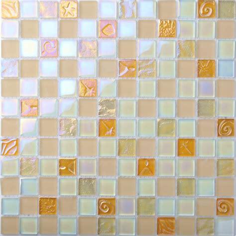iridescent glass tile mosaic pink  splash bathroom