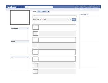 facebook profile template character study  sarah