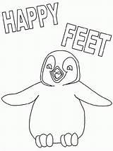 Feet Coloring Happy Penguin Popular Getcolorings Dancing sketch template