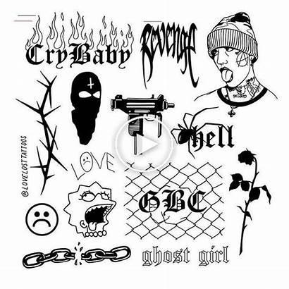 Peep Lil Tattoo Flash Drawings Tattoos