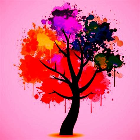 colourfull tree colorful tree