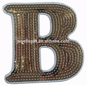 iron on patch embroidered applique large sequin gold With large gold iron on letters
