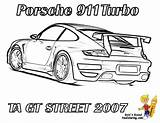 Coloring Pages Porsche Difficult Colouring 911 Hard Cars Race Street Gt Rear Printable Corvette Boys Carrera Gusto Mandala Ta 2007 sketch template