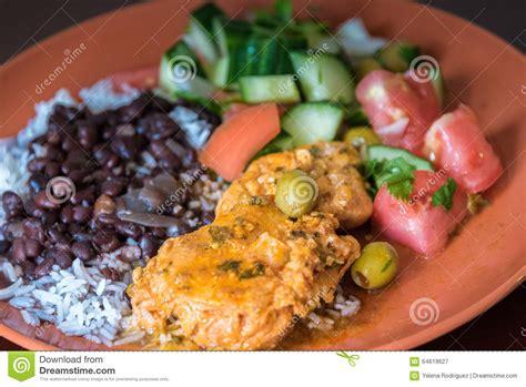 cuisine typique cuisine cubaine plat typique photo stock image 64619627