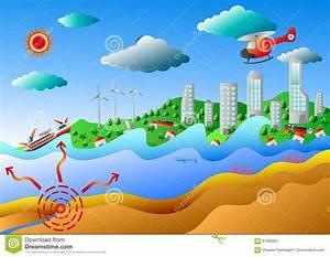 Tsunami  Vector Illustration Stock Vector