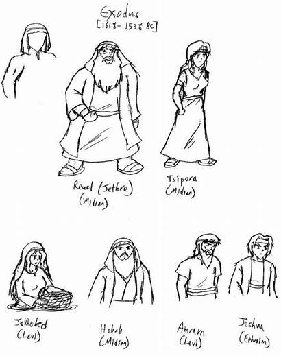 Bible Coloring Character Characters Simple Clipart Simon