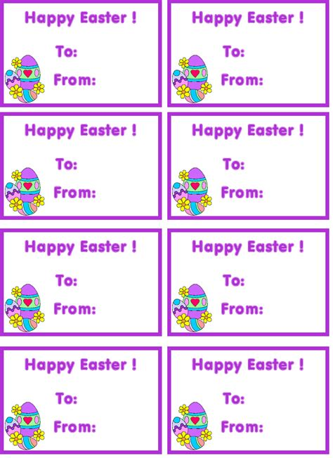 tag  printable tags custom tags  easter tags