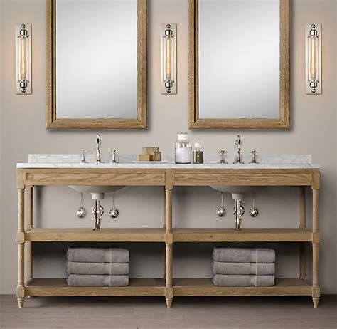 restoration hardware bathroom vanity how to build a custom vanity without the custom price tag