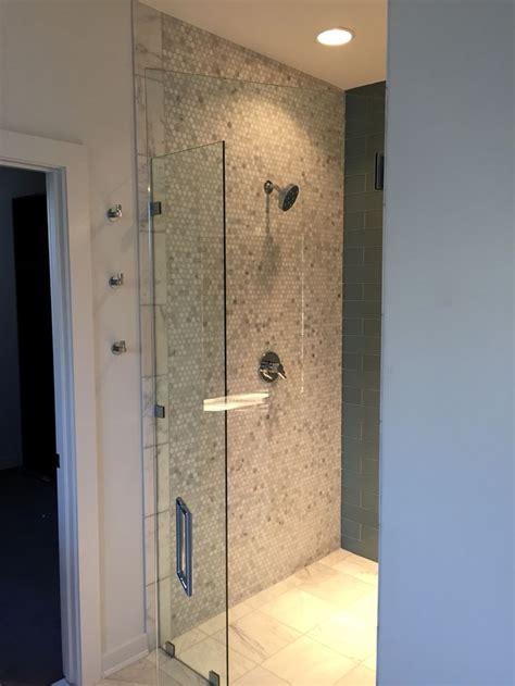 entry shower early acres residence bathroom master bathroom modern farmhouse style