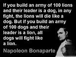 Napoleon Bonaparte quotes. So true.   Leadership ...