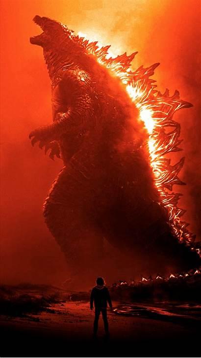 Godzilla Monsters King 4k Burning Wallpapers Phone