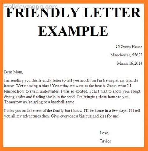 Friendly Letter Template Friendly Letter Template Holidaymapq