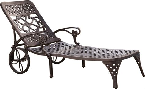 home styles biscayne outdoor chaise lounge chair with wheels
