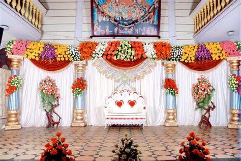 bangalore stage decoration design  flower stage