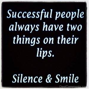 Silence And Smile - DesiComments.com