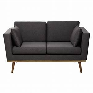 Sofa 2 Sitzer Grau : vintage sofa 2 sitzer grau maisons du monde ~ Markanthonyermac.com Haus und Dekorationen