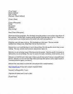 Free plaint Letter Template Sample Letter of plaint