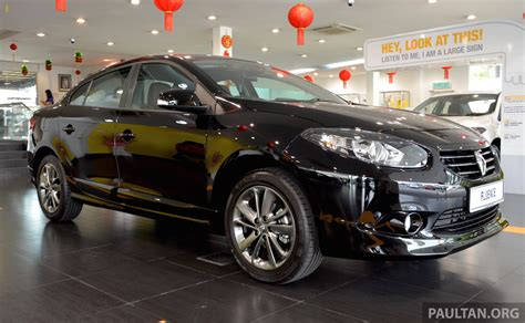 renault fluence black renault fluence black edition launched rm119 888