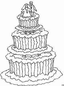 Torte Hochzeit Ausmalbild Malvorlage Gemischt