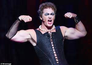 eric mccormack rocky horror video craig mclachlan performs as frank n furter in the rocky