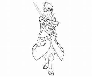 Desenho De Sasuke Uchiha De Naruto Para Colorir