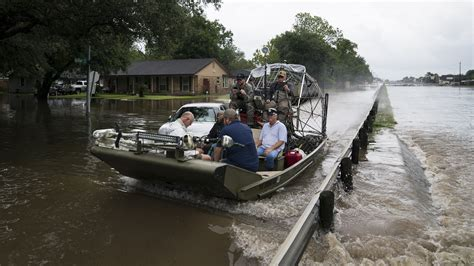 Airboat Houston by Already Flooded Houston Braces As 2 Swollen Reservoirs