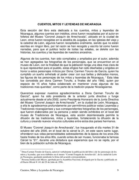 Cuentos Mitos Y Leyendas De Nicaragua Tomo Ii 260410