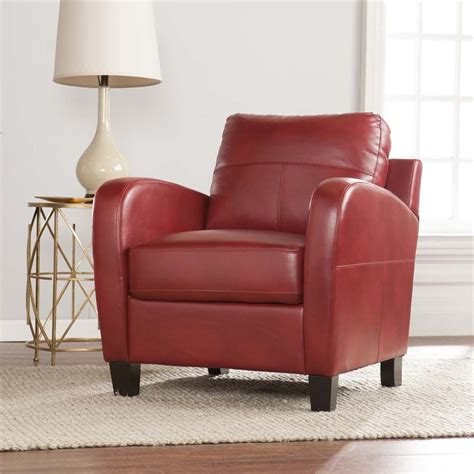southern enterprises bolivar faux leather lounge chair in