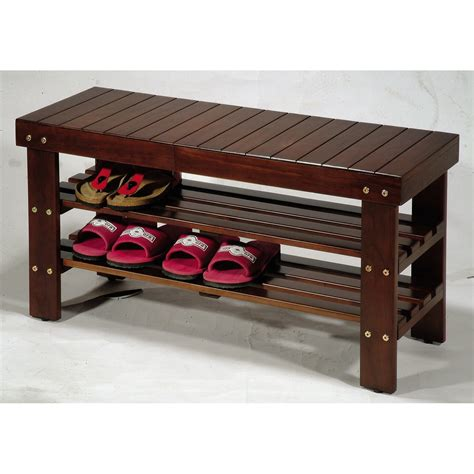 Entrance Bench by Roundhill Furniture Solid Wood Entryway Bench Reviews