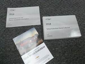 2018 Chevy Tahoe Owner Operator Manual User Guide Set Ls